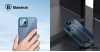 Baseus iPhone 12 Pro Max rugalmas gél tok, fényes fémes kerettel Shining - Kék