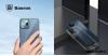 Baseus iPhone 12 Pro Max rugalmas gél tok, fényes fémes kerettel Shining - Zöld