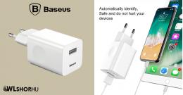 Baseus USB 3.0 hálózati gyorstöltő - Fehér