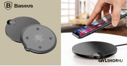 Baseus Digitális Led kijelzős vezeték nélküli wireless gyorstöltő - Fekete