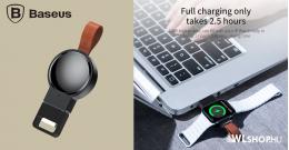 Baseus iWatch vezeték nélküli töltő 2,5W Dotter - Fekete