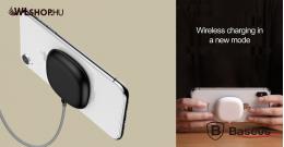 Baseus tapadókorongos vezeték nélküli wireless gyorstöltő - Fekete