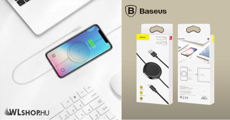 Baseus Wireless + Lighting töltő 5W 5V/3A - Fehér