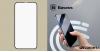 Baseus iPhone 12/12 Pro 0.23 mm, teljes felületre, lekerekített edzett üveg, törés álló szélek (2db/cs.) - Fekete