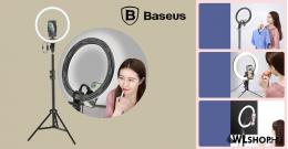 Baseus Live Stream tartó állvány 12'-os telefonhoz LED fénygyűrűvel álvánnyal