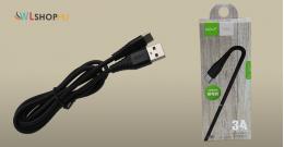 Golf USB-C adat/töltőkábel 3A 1méteres - Fekete