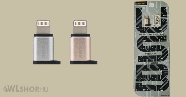 Remax Ligtning - Micro USB OTG Adapter - Ezüst
