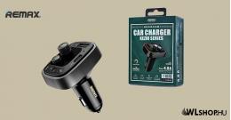 Bluetooth FM Transmitter 2USB/USB-C 4,8A autós töltő RCC230 Remax - Fekete