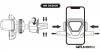 Autós telefontartó szellőzőrácsra WP-U82 WK Desing - Fekete