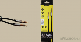 Remax 3.5 mm Aux audio kábel RL-L100 - Fekete