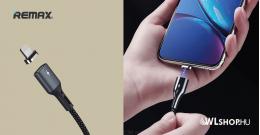 iPhone töltőkábel mágneses csatlakozóval 1m 3A RC-156i Remax