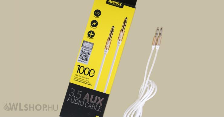 Remax 3.5 mm Aux audio kábel RL-L100 - Fehér