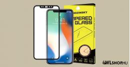 iPhone 12 Mini üvegfólia teljes felületen tapad Wozinsky- Fekete