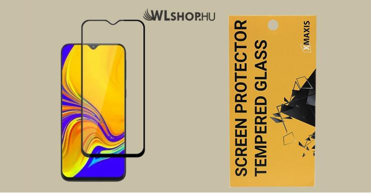 Samsung G. A10 5D Edge to Edge kijelzővédő üveglap - Fekete