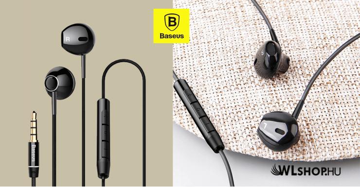 Baseus vezetékes fülhallgató/headset Encok H06 - Fekete