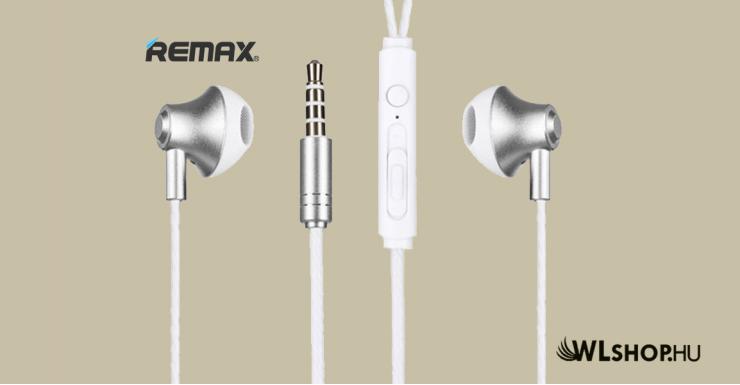 Vezetékes fülhallgató/headset Remax RM-711 - Fehér
