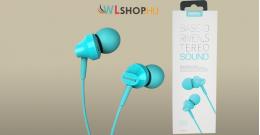 Remax RM-501 Fülhallgató/headset - Kék