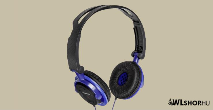 PANASONIC RP-DJS150E-A Sztereó Fejhallgató - Fekete