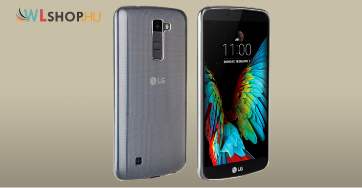 LG K8 Ultra vékony átlátszó szilikon tok