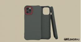 iPhone 12 Pro Max Soft Color flexibilis gél tok - Sötétzöld