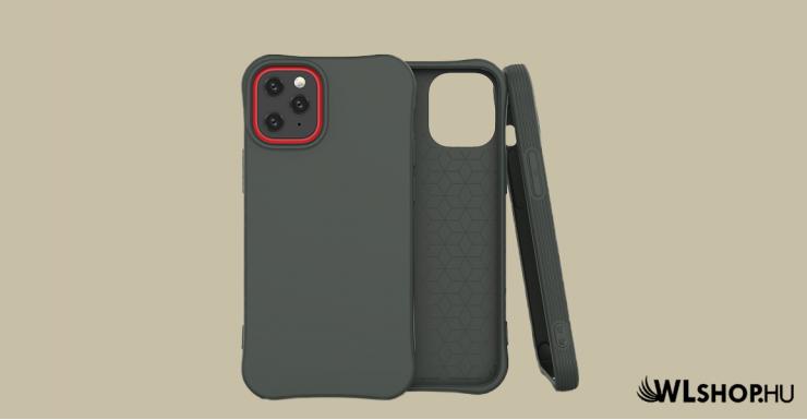 iPhone 12/12 Pro Soft Color flexibilis gél tok - Sötét zöld
