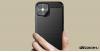 iPhone 12 Mini szénszál mintás TPU tok - Fekete