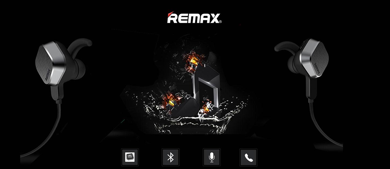 Remax S2 Mágneses sport fülhallgató / Bluetooth fülhallgató - Fekete
